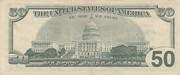 50 Dollars (Federal Reserve Note; large portrait) – reverse