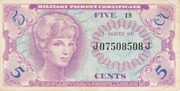 5 Cents - Military Payment Certificate - Series 641 – obverse
