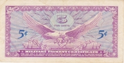 5 Cents - Military Payment Certificate - Series 641 – reverse
