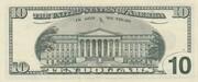 10 Dollars (Federal Reserve Note; large portrait) – reverse