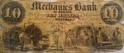 10 Dollars (Mechanics Bank) – obverse