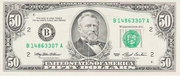 50 Dollars (Federal Reserve Note; small portrait; with security thread) – obverse
