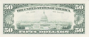 50 Dollars (Federal Reserve Note; small portrait; with security thread) – reverse