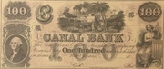 100 Dollars (Canal Bank, New Orleans) – obverse