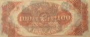 100 Dollars (Canal Bank, New Orleans) – reverse