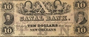 10 Dollars (Canal Bank, New Orleans) – obverse