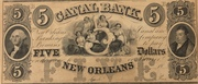 5 Dollars (Canal Bank, New Orleans) – obverse