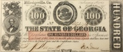 100 Dollars (Milledgeville, Ga) – obverse