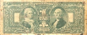 "1 Dollar (Silver Certificate; Series of 1896 - ""Educational Series"") – reverse"