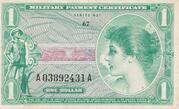 1 Dollar- Military Payment Certificate - Series 651 – obverse