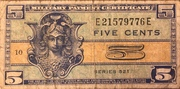 5 Cents (Military Payment Certificate) -  obverse