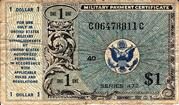 1 Dollar Military Payment Certificate- Series 472 -  obverse