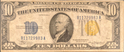 10 Dollars (Silver Certificate; Yellow Seal - North Africa) – obverse