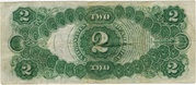 2 Dollars (United States Note; Series of 1917) – reverse