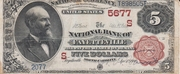 "5 Dollars (National Bank Note; Series 1882 ""Brown Back"") – obverse"
