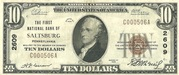10 Dollars (National Bank Note; Series 1929) – obverse