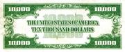 10,000 Dollars (Federal Reserve Note - Small Portrait) – reverse