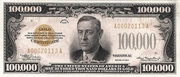 100,000 Dollars (Gold Certificate) – obverse