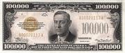 100,000 Dollars (Gold Certificate) – obverse