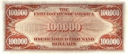 100,000 Dollars (Gold Certificate) – reverse