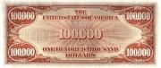 100,000 Dollars (Gold Certificate) – reverse