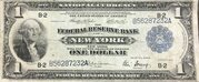 1 Dollar (Federal Reserve Bank Note; Series of 1918) – obverse