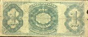 1 Dollar (Silver Certificate - Series 1891) -  reverse