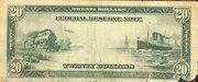 20 Dollars (Federal Reserve Note; Series 1914) – reverse