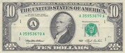 10 Dollars (Federal Reserve Note; small portrait) – obverse