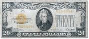 20 Dollars (Gold Certificate) – obverse