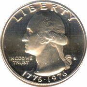 """¼ Dollar """"Washington Quarter"""" (Bicentennial) -  obverse"""