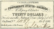 $20 C.S. Loan - United States – obverse