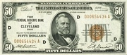 50 Dollars (Federal Reserve Bank Note; Series 1929) – obverse