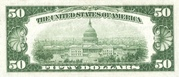 50 Dollars (Federal Reserve Bank Note; Series 1929) – reverse