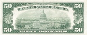 50 Dollars (Federal Reserve Note; small portrait; no motto) – reverse