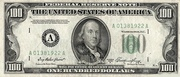 100 Dollars (Federal Reserve Note; small portrait; no motto) – obverse