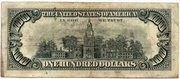 100 Dollars (United States Note) – reverse