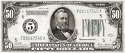 50 Dollars (Federal Reserve Note; Large FIFTY; Branch ID in Numbers) – obverse