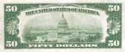 50 Dollars (Federal Reserve Note; Large FIFTY; Branch ID in Numbers) – reverse
