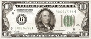 100 Dollars (Federal Reserve Note; Large 100; Branch ID in Numbers) – obverse