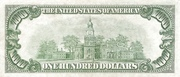 100 Dollars (Federal Reserve Note; Large 100; Branch ID in Numbers) – reverse