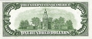 100 Dollars (Federal Reserve Note; Large 100; Branch ID in Letters) – reverse