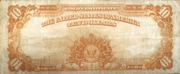 10 Dollars (Gold Certificate) – reverse