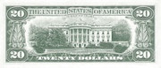 20 Dollars (Federal Reserve Note; small portrait) – reverse
