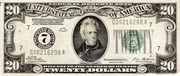 20 Dollars (Federal Reserve Note; Large TWENTY; Branch ID in Numbers) – obverse