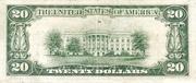 20 Dollars (Federal Reserve Note; Large TWENTY; Branch ID in Numbers) – reverse