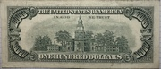 100 Dollars (Federal Reserve Note; small portrait; with security thread) – reverse