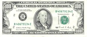 100 Dollars (Federal Reserve Note; small portrait) – obverse