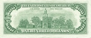 100 Dollars (Federal Reserve Note; small portrait) – reverse