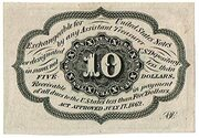 "10 Cents (""Postage Currency"" - 1st issue) – reverse"